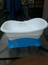 baby's white and blue plastic bather Toronto, M1E 3V4
