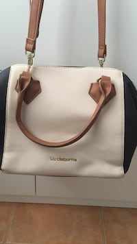 beige and black leather Liz Claiborne tote bag Hialeah, 33015