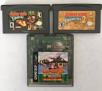 Donkey Kong country 1&2 GBA Donkey Kong country two GameBoy color Japan import