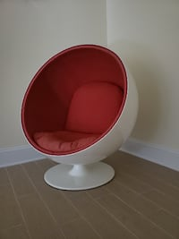 Swivel Ball Chair (red) Kensington