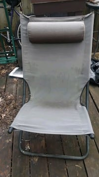 Brown chair with metal frame