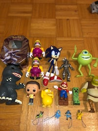 Various video game toys