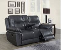 Reclining sofa couch OR loveseat with console leather brand new in box  Jacksonville, 32216