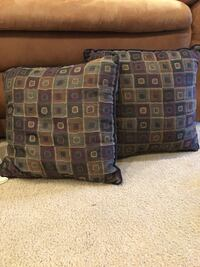 brown and blue fabric sofa Lancaster, 93536