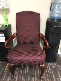 Chair- Burgundy with gold design. Fairfax Station, 22039