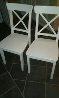 Two White Wood IKEA Chairs  Washington, 20015
