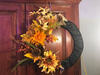 yellow and green flower wreath null