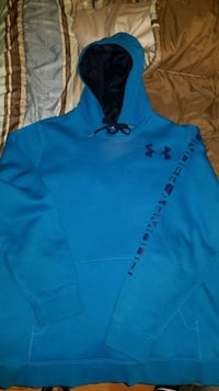 blue and black Under Armour pullover hoodie Sudbury, P3A 4L5