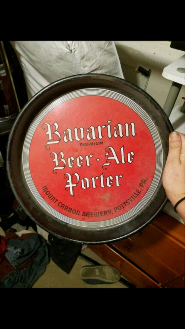 Bavarian beer collectible plate.