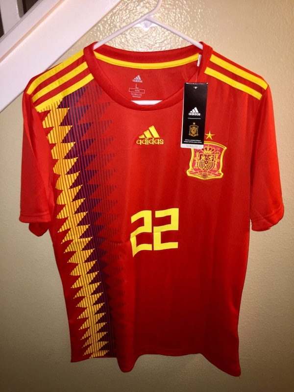the best attitude 7fdc1 cc2fe 2018 FIFA WORLD CUP SPAIN JERSEY