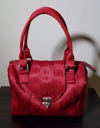 NEW Cranberry Red Soho Seatbelt Satchel (MSRP $178) by Maggie Bags  2229 mi