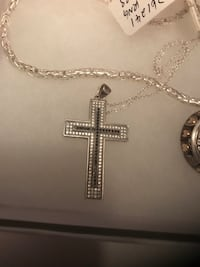 Silver chain link necklace with cross pendant Edmonton, T6H 0R5