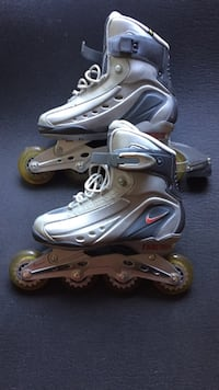 pair of gray inline skates Vancouver, V5T 1T8