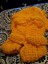 orange and white knitted textile Brooklyn, 11233