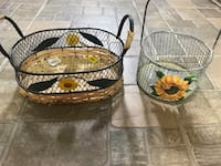 two brown wicker baskets with lid Saint-Zotique, J0P