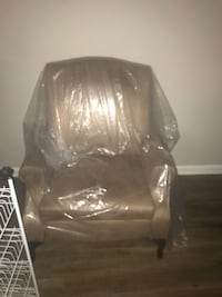 Tan lounge chair  Like brand new asking for $60 obo