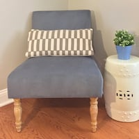 Blue Grey Accent Chair Princeton