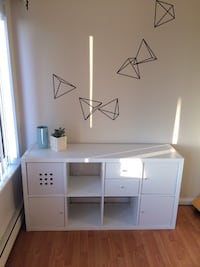 White IKEA unit with doors and drawers New Westminster