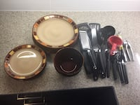 Free kitchen equipment, plates, and bowl