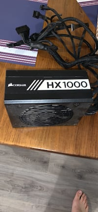 Corsair HX1000 fully modular platinum rated power supply