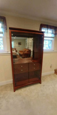 Two Matching China Cabinets in Cherry Wood 44 mi