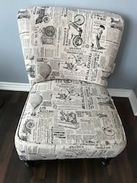 Newspaper Print Chair Brampton, L6Z