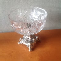 clear cut glass footed bowl 788 km