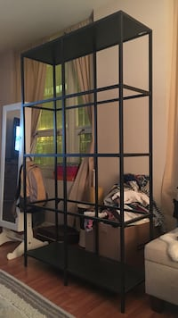 Ikea shelf (glass shelf portion is included, just not pictured)