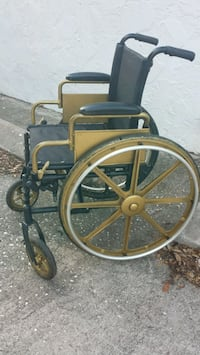 black and gold wheelchair Saint Petersburg, 33707