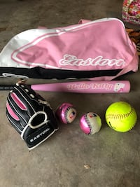 Little girls softball set: glove, bat, bag, balls Ashburn, 20148