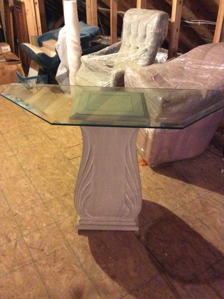 Fiberglass Console Table ~ Letgo fiberglass sofa table with inch in daphne al