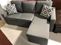 Grey reversible sectional free delivery in Ontario Guelph, N1H 7K6
