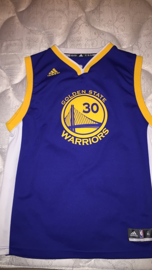 outlet store sale a5cf7 d5470 Blue and yellow golden state warriors 30 stephen curry jersey shirt