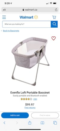 Even Flo portable bassinet Vancouver, V5S