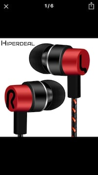 black and red bluetooth earpiece Brampton, L6P 2K6