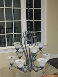 gray and white uplight chandelier 29 km