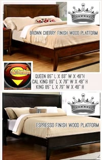 Queen Wood Bed Frame Only New  Fresno, 93726