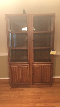 brown wooden cabinet with shelf Chicago, 60623