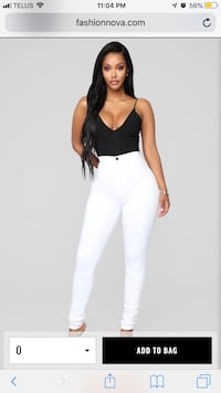 White Fashion Nova super high waisted jeans