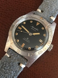 Vintage Aquastar Geneve tropical dial submariner