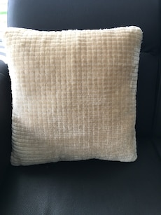 White throw pillow brand new