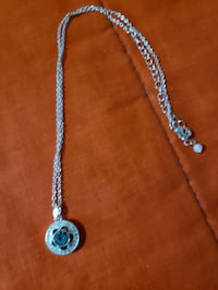 silver chain link necklace with pendant Toronto, M3J 1V6