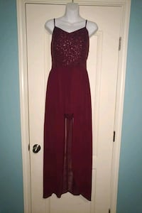 Burgundy women's formal skort McAllen, 78504