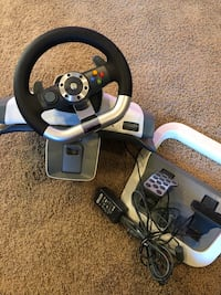black and gray Snopy steering wheel controller