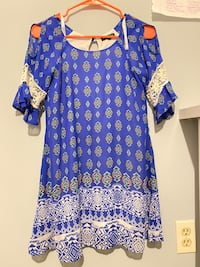 Kids/Teen Floral, Flowy, Colorful, Blue, Paisley dress
