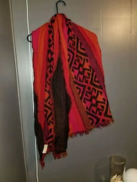 red and white tribal print scarf Surrey, V3S 9R6