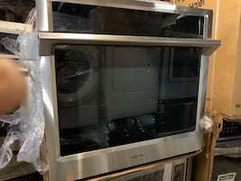 """Samsung - 30"""" Single Wall Oven - Stainless steel"""