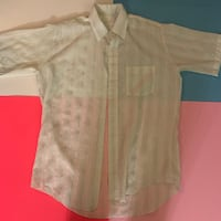 Large semi clear shirt
