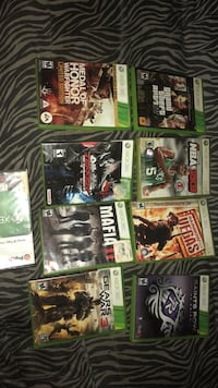 Assorted xbox 360 game case lot Waterbury, 06706
