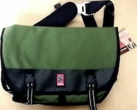 black and green fanny pack